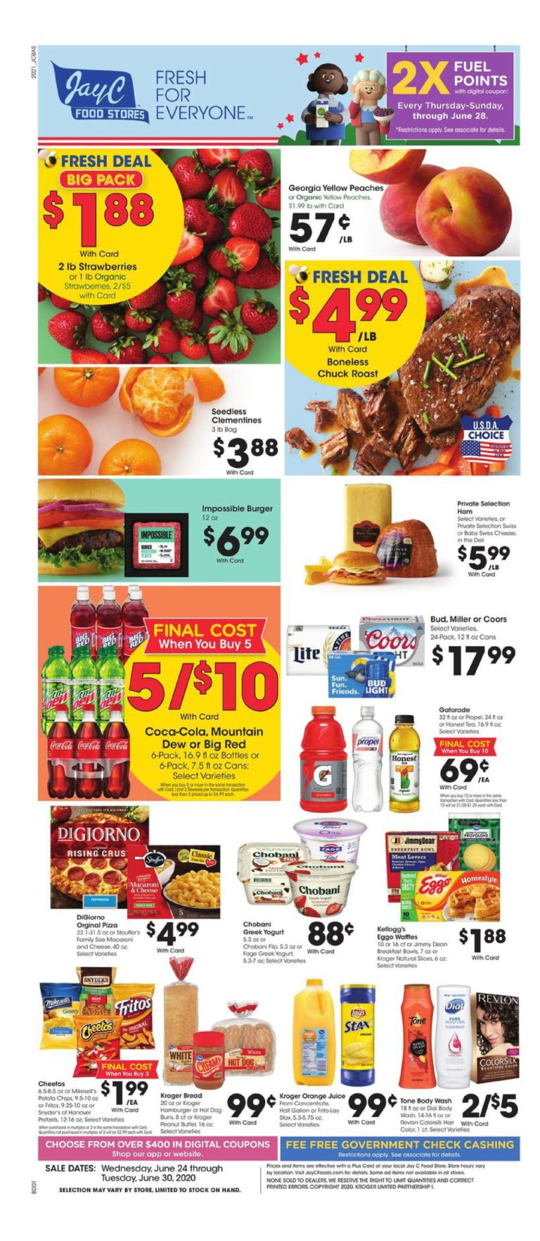 Jay c foods weekly ad ( June 24 - June 30, 2020 ) | Jay c foods In Store Ads