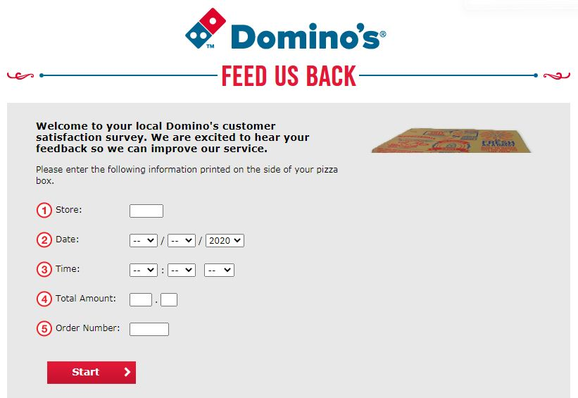 Domino's Pizza Survey - Feedusback.dominos.co.uk