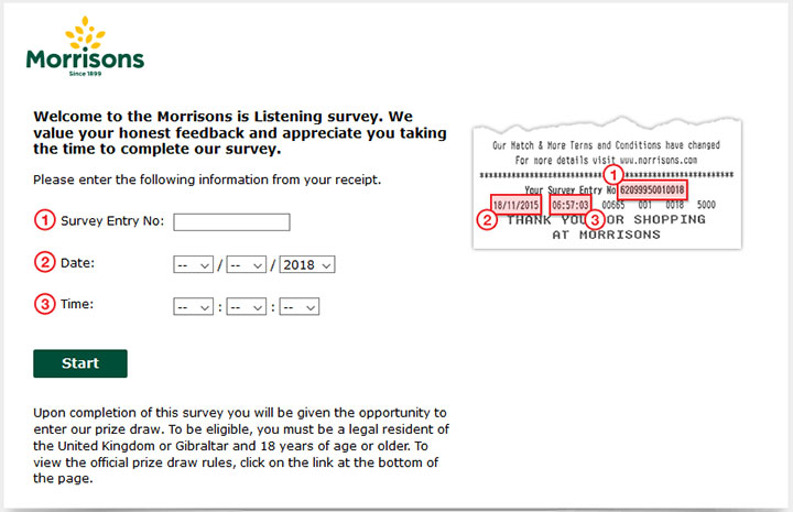 www.morrisonsislistening.co.uk - Morrisons Survey