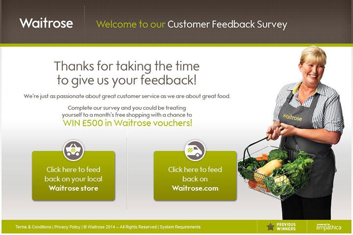 Waitrose Survey - waitrosehaveyoursay.com