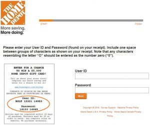 Www.HomeDepot.Com/Survey - Home Depot Survey