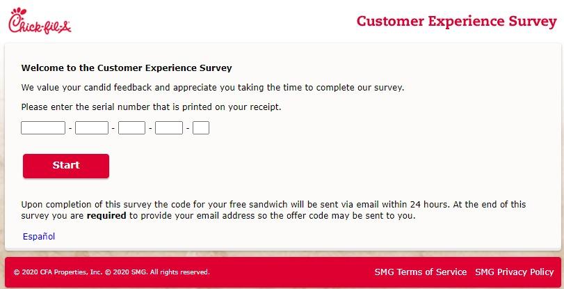 Chick-fil-A Customer Survey At www.mycfavisit.com