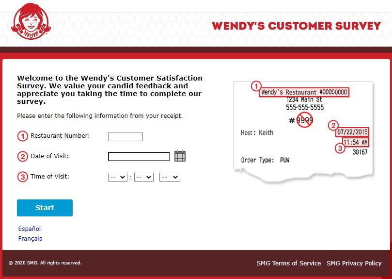 www.Talktowendys.com - Wendy's Survey